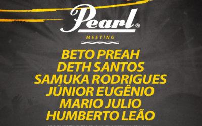 Encontro Pearl com grande nomes da bateria em João Pessoa – PB.